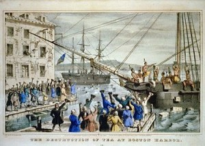 It often resembles the Boston tea party at QHQ